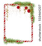 blank christmas border  candy... | Shutterstock .eps vector #533464207
