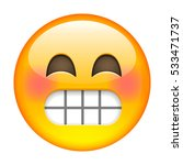 laughing emoticon. isolated...   Shutterstock . vector #533471737