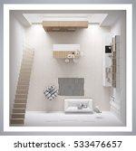 scandinavian white kitchen ... | Shutterstock . vector #533476657
