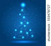 cyber new year tree  vector   Shutterstock .eps vector #533478727