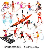 sport icon set isometric people ... | Shutterstock .eps vector #533488267