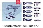 aggressive heavy bomber... | Shutterstock .eps vector #533506477