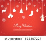 christmas composition with... | Shutterstock .eps vector #533507227
