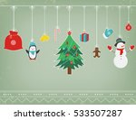 christmas composition with... | Shutterstock .eps vector #533507287