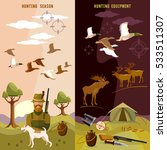 hunting banners  hunter with... | Shutterstock .eps vector #533511307