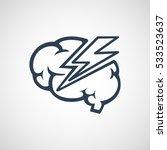 brain disease logo vector icon... | Shutterstock .eps vector #533523637