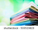 file folder against green... | Shutterstock . vector #533523823