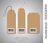 label cardboard hanging tag... | Shutterstock .eps vector #533526943
