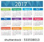 calendar for 2017 | Shutterstock .eps vector #533538013