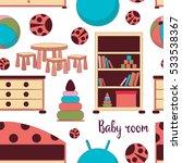 interior of baby room pattern   Shutterstock .eps vector #533538367
