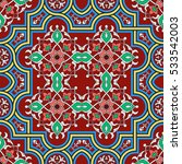 oriental vector pattern with... | Shutterstock .eps vector #533542003