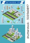 set for design 3d cityscape... | Shutterstock .eps vector #533560897