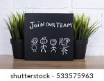 join our team text write on... | Shutterstock . vector #533575963