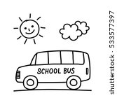 school bus drawing on white... | Shutterstock .eps vector #533577397