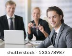 group of business people ... | Shutterstock . vector #533578987