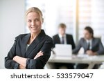 young confident business lady ... | Shutterstock . vector #533579047