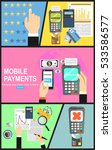 mobile payments.transaction and ... | Shutterstock .eps vector #533586577