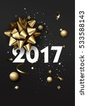 happy new year 2017 greeting... | Shutterstock .eps vector #533588143
