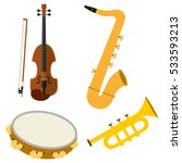 set of musical instruments ... | Shutterstock .eps vector #533593213