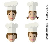 icons of cooks heads | Shutterstock .eps vector #533599573