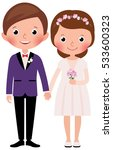 happy just married bride and... | Shutterstock .eps vector #533600323