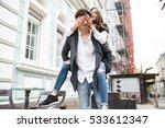 nice couple outdoor | Shutterstock . vector #533612347