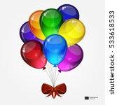 birthday party vector... | Shutterstock .eps vector #533618533
