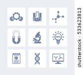 science  laboratory study icons ...