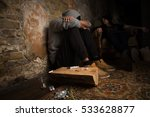 drug addict man and woman... | Shutterstock . vector #533628877