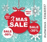 christmas and new year sale... | Shutterstock .eps vector #533630557