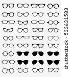 set of different  glasses... | Shutterstock .eps vector #533631583