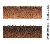 ground cutaway vector | Shutterstock .eps vector #533632537
