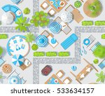seamless pattern. sunny patio... | Shutterstock .eps vector #533634157