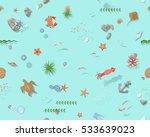 seamless pattern. the bottom of ... | Shutterstock .eps vector #533639023