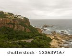 houses above the cliffs in... | Shutterstock . vector #533639167