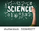 a teacher writing science ... | Shutterstock . vector #533640277