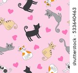 seamless pattern with funny... | Shutterstock .eps vector #533640463