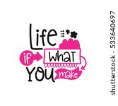 vector poster with phrase decor ... | Shutterstock .eps vector #533640697