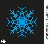 snowflake icon  vector...   Shutterstock .eps vector #533647183