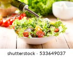 cooking salad. olive oil... | Shutterstock . vector #533649037