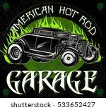 american hot rod garage.... | Shutterstock .eps vector #533652427