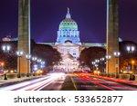 pennsylvania state capitol in... | Shutterstock . vector #533652877