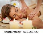 beautiful woman enjoying during ... | Shutterstock . vector #533658727