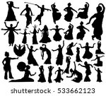 oriental dance silhouettes | Shutterstock .eps vector #533662123