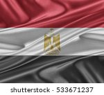 egypt flag. flag with a... | Shutterstock . vector #533671237