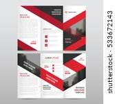 red business trifold leaflet... | Shutterstock .eps vector #533672143