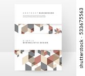 geometric background template... | Shutterstock .eps vector #533675563