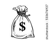 sack of dollars. bag of money.... | Shutterstock . vector #533676937