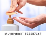 hand press pump head shampoo... | Shutterstock . vector #533687167