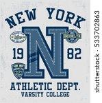 college new york  brooklyn... | Shutterstock .eps vector #533702863